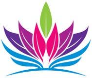 Leaf Health Logo. A leaf health medicine logo icon in colour Royalty Free Stock Photos