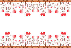 Leaf heart border. Illustration art leaf heart border with isolated background Stock Images