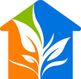 Leaf home. Illustration art of a leaf home with isolated background Royalty Free Stock Photo