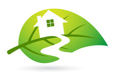 Leaf home vector illustration