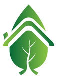Leaf home logo Stock Images