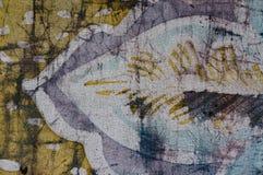 Leaf, hot batik, background texture, handmade on silk, abstract surrealism art stock photos