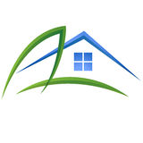 Leaf and house logo vector Royalty Free Stock Photography