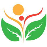 Nature human logo Stock Photo