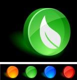 Leaf Icon. Royalty Free Stock Photos