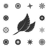 Leaf icon. Detailed set of Flower illustrations. Premium quality graphic design icon. One of the collection icons for websites, we. B design, mobile app on white stock illustration