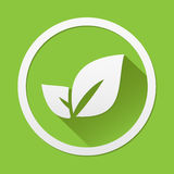 Leaf icon great for any use. Vector EPS10. Royalty Free Stock Image
