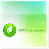 Leaf Icon Internet Button on Vector Background Royalty Free Stock Photography