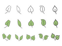 Leaf icon set Stock Photo