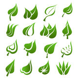 Leaf icon set Royalty Free Stock Photos