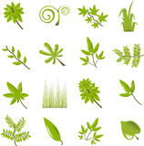 Leaf icon set Stock Image