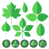 Leaf. Icon Set Stock Image