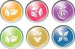 Leaf icon set Royalty Free Stock Photos