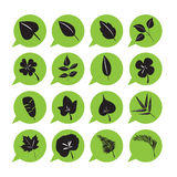 Leaf icon vector set Royalty Free Stock Image