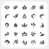 Leaf icons set Stock Photos