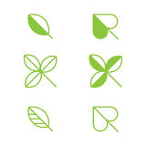 Leaf icons Stock Photography