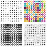100 leaf icons set vector variant. 100 leaf icons set vector in 4 variant for any web design isolated on white Royalty Free Illustration
