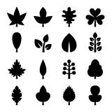 Leaf icons set. Vector Stock Image
