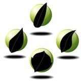Leaf icons Stock Photos