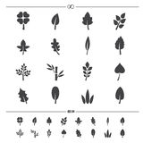 Leaf icons vector Royalty Free Stock Images