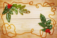 Leaf ilex and garland Stock Photo