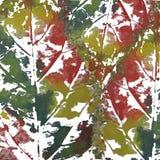 Leaf imprint, sheet printing Royalty Free Stock Photography