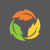 Leaf Infinity Symbol Royalty Free Stock Image