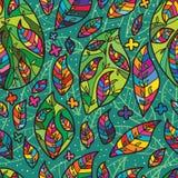 Leaf inside leaf seamless pattern Royalty Free Stock Photo