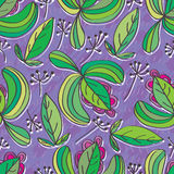 Leaf isolated seamless pattern. Illustration leaves isolated seamless pattern purple color background Stock Images