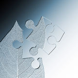 Leaf jigsaw abstract Royalty Free Stock Photography