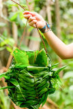 Leaf Knitted Basket Used By Indigenous People Stock Image