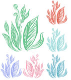 Leaf line art Royalty Free Stock Photo