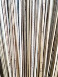 Leaf line of coconut make broom stock photo