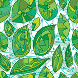 Leaf line mood seamless pattern. This illustration is design and drawing abstract without flower the leaf only can motion the line style in seamless pattern Royalty Free Stock Photography