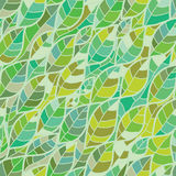 Leaf line seamless pattern Royalty Free Stock Photos