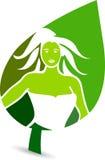 Leaf logo. Illustration art of a leaf logo with white background Royalty Free Stock Photo