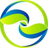 Leaf logo. Illustration art of a leaf logo with isolated background stock illustration