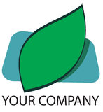 Leaf Logo. A green leaf logo for your company stock illustration
