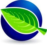 Leaf logo Royalty Free Stock Photography