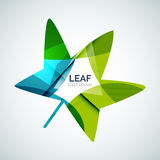 Leaf logo Royalty Free Stock Photography