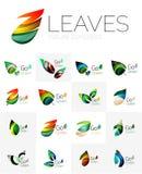 Leaf logo set Royalty Free Stock Image