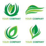 Leaf Logo with your company name Stock Photos