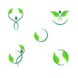 Leaf logos Royalty Free Stock Photography
