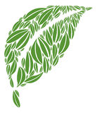 Leaf made of multiple green leaves Vector Illustration Royalty Free Stock Images