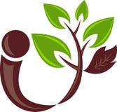 Leaf man logo Royalty Free Stock Image
