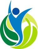 Leaf man logo Stock Photography