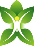 Leaf man logo Stock Photo