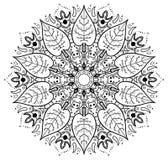 Leaf mandala Royalty Free Stock Images