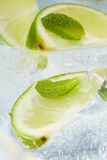 Leaf mint and cut citrus Royalty Free Stock Images