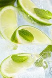 Leaf mint and cut citrus Royalty Free Stock Photos